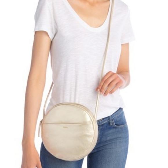 Baggu/Nordstrom leather circle crossbody purse